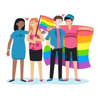 Illustration de gens de jour de fierté