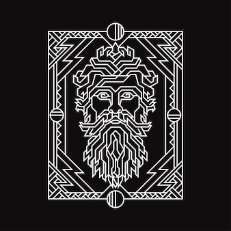 Illustration de la géométrie de dieu thunder