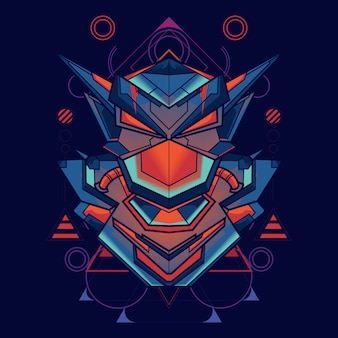 Illustration d'une géométrie sacrée de robot