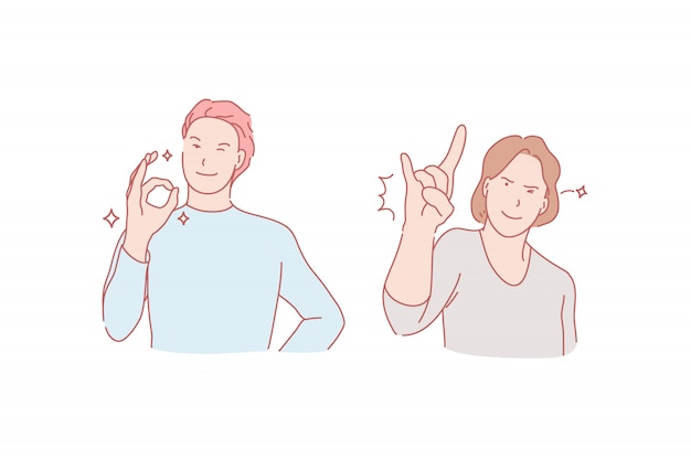 Illustration de geste de réussite