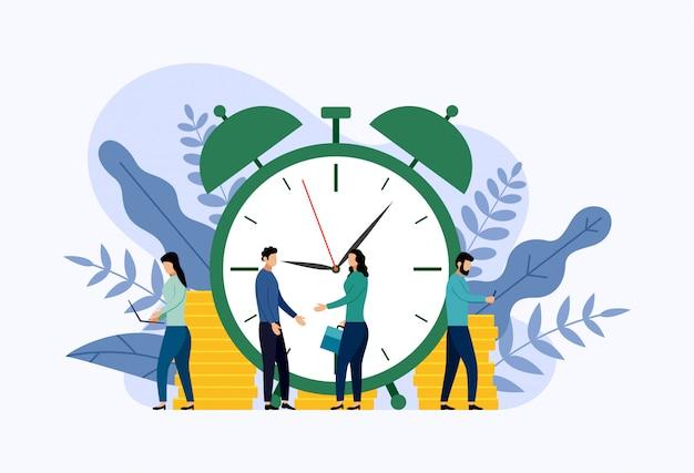 Illustration de gestion du temps