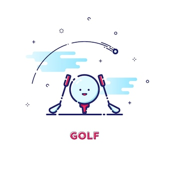 Illustration de golf