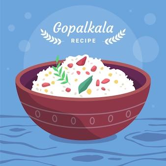 Illustration de gopalkala dessinée à la main