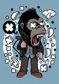 Illustration de gorilla slayer