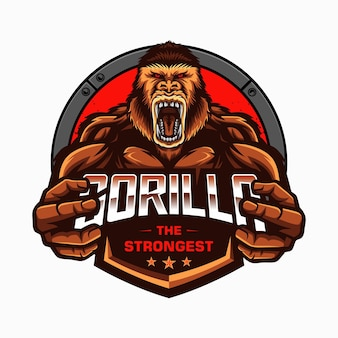 Illustration de gorille forte