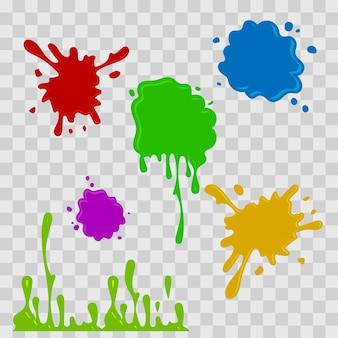 Illustration de goutte de peinture abstraite