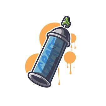 Illustration de graffiti de bombes aérosols