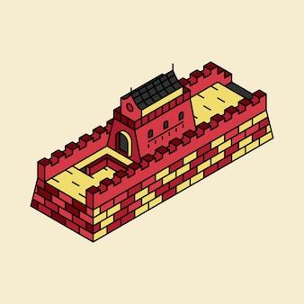 Illustration de la grande muraille de chine