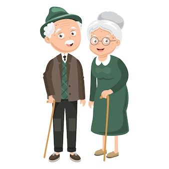 Illustration des grands-parents