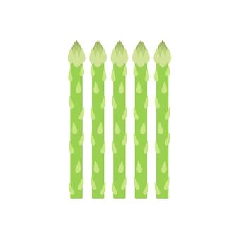 Illustration graphique d'asperges vertes en bonne santé