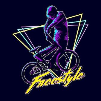 Illustration graphique de bmx freestyle