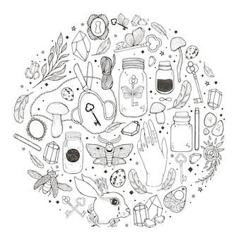 Illustration graphique d'esquisse