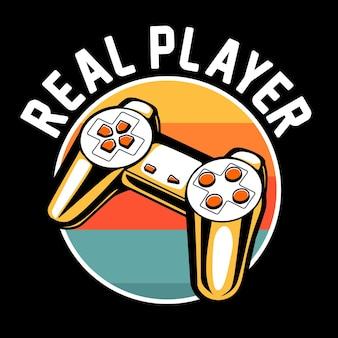 Illustration graphique de jeu de joueur réel
