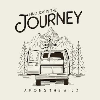Illustration graphique de jouney adventure