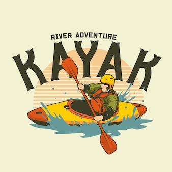 Illustration graphique de kayak