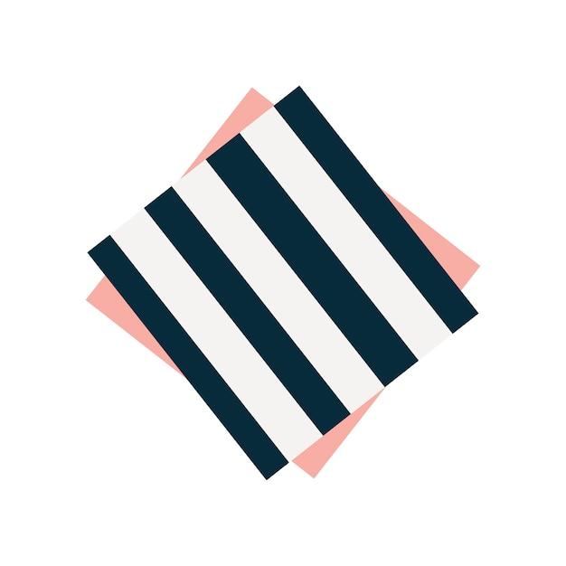 Illustration graphique de serviette rayée mignonne