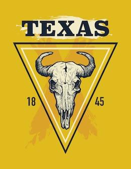 Illustration graphique de texas buffalo tee print
