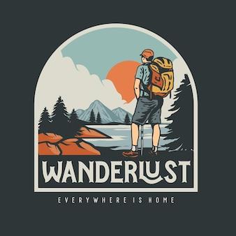 Illustration graphique wanderlust