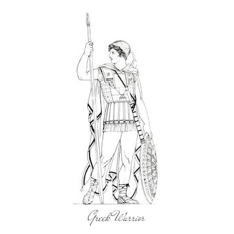Illustration de la grèce antique