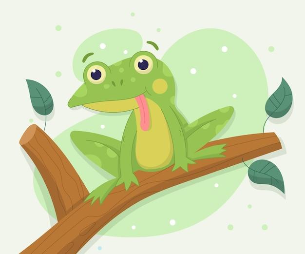Illustration de grenouille adorable dessinée à la main