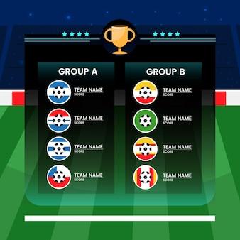 Illustration de groupes de football sud-américain de dessin animé