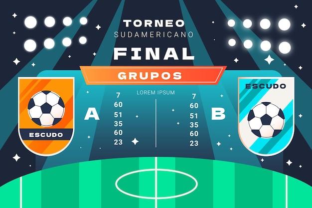 Illustration de groupes de football sud-américain plat