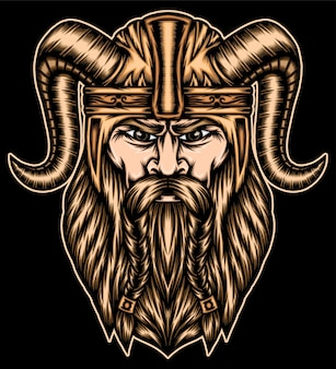 Illustration de guerrier viking.