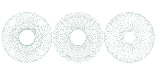 Illustration guilloché circulaire