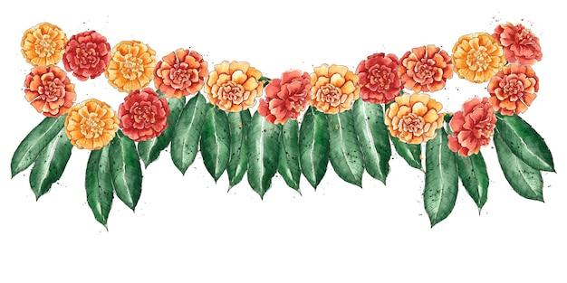 Illustration de guirlande ugadi aquarelle