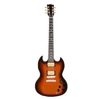 Illustration de la guitare électrique brune