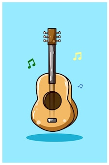 Illustration de la guitare