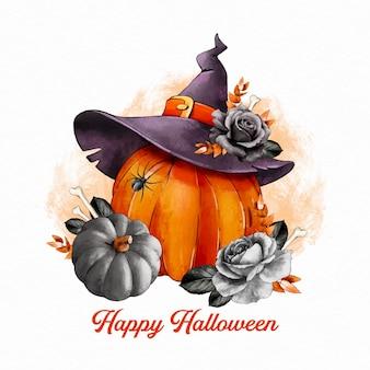 Illustration d'halloween à l'aquarelle