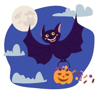 Illustration d'halloween dessinée à la main