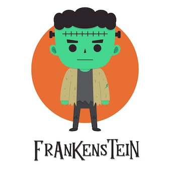 Illustration d'halloween frankenstein