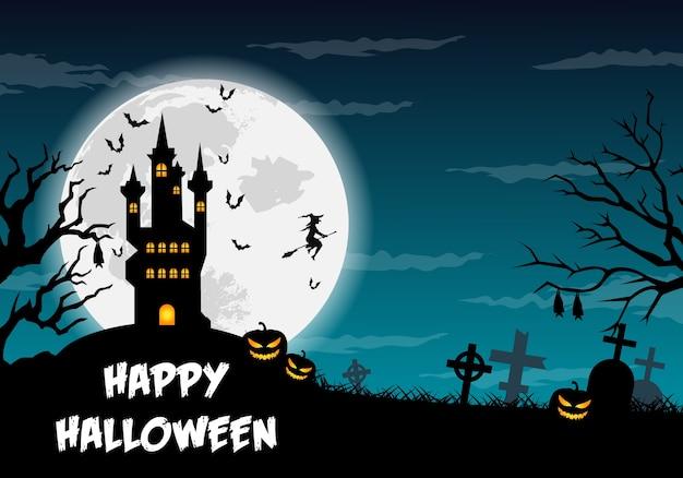 Illustration d'halloween heureux.