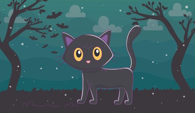Illustration de halloween mignonne