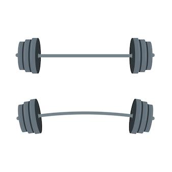 Illustration d'haltères avec haltères pour la conception de style de vie. équipement de gym. illustration isolé sur fond blanc.