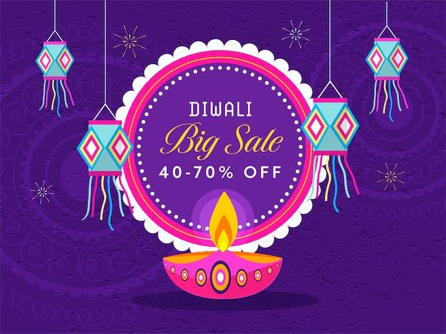 Illustration de happy diwali concept