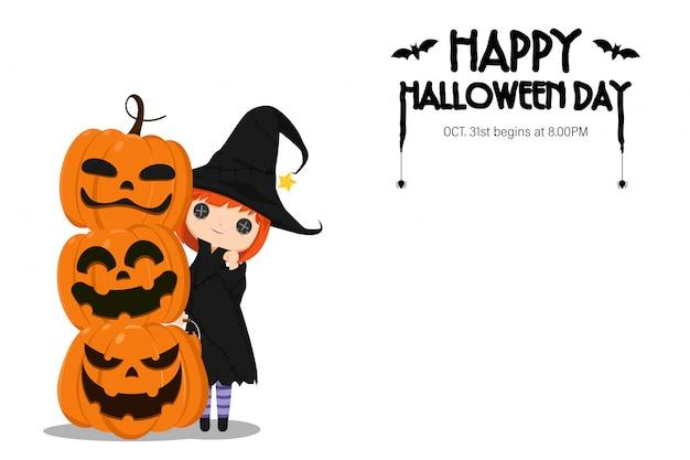Illustration happy halloween day.