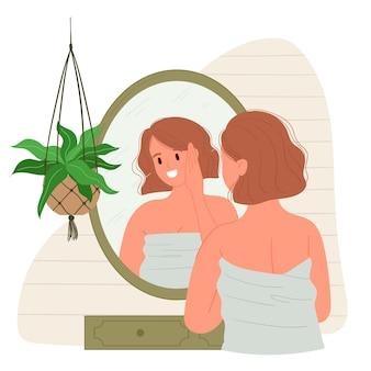 Illustration de haute estime de soi