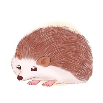 Illustration de hérisson mignon dessiné à la main