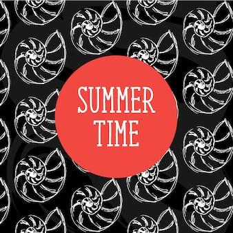Illustration de l'heure d'été avec des coquillages