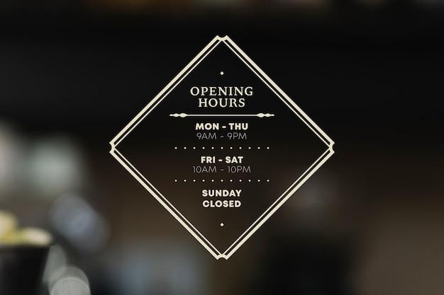 Illustration des heures d'ouverture des entreprises avec photo