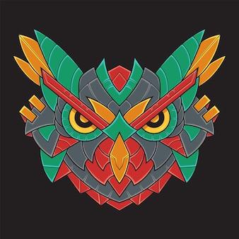 Illustration de hibou coloré