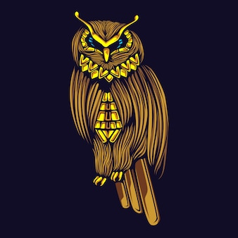 Illustration de hibou d'or
