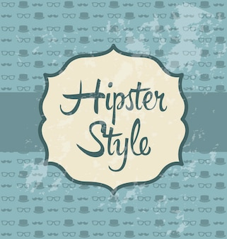 Illustration de hipster sur vecteur de style ancien fond rétro
