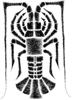 Illustration de homard dessiner à la main