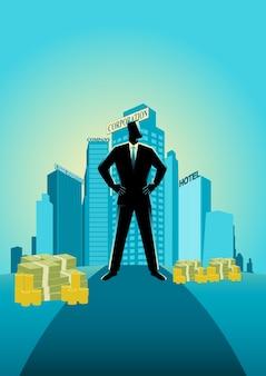Illustration d'un homme d'affaires prospère