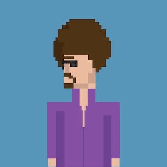 Illustration d'un homme avatar avec une coiffure afro