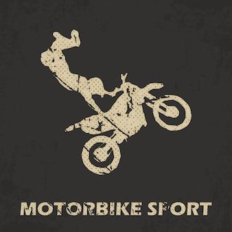 Illustration de l'homme moto et motards. image de style créatif et sportif